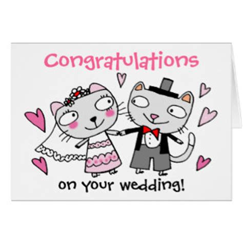 cartoon bride and groom greeting cards | zazzle.co.uk