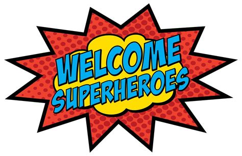 printable superhero party decorations printable welcome sign 11x17 9 00 via etsy superhero