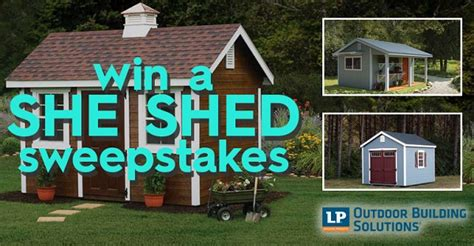 better homes and gardens diy she shed sweepstakes