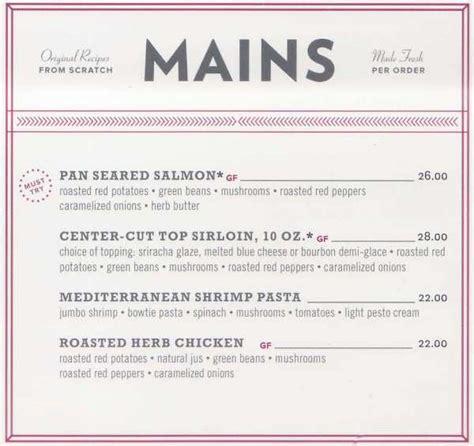 great room restaurant menu  lake placid ny