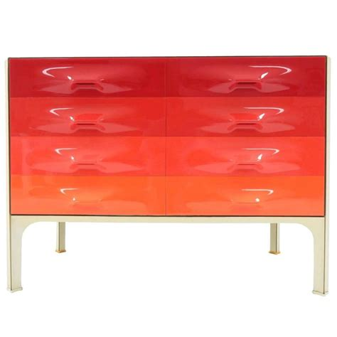 Colorful Dressers For Sale Raymond Loewy Df2000 X Line Multi Color Dresser Circa