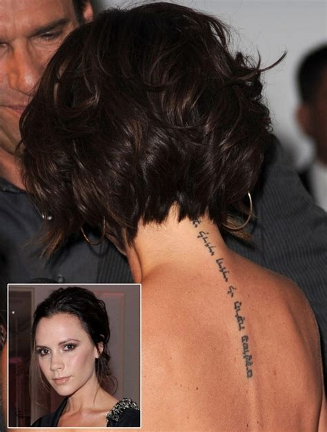 tattoo victoria beckham espalda sexy tatuaje en la espalda de las estrellas spanish china