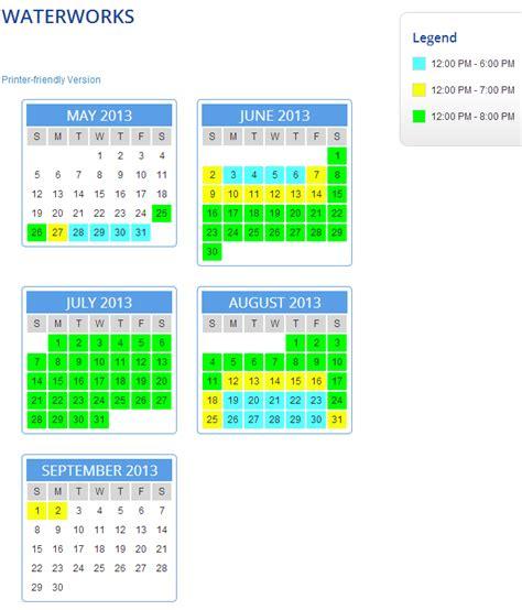 Calendar King Haunt Dominion 2015 Schedule