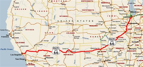 map a route route 66 usa suche by ℳichelle we it