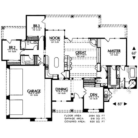 Adobe Southwestern Style House Plan 3 Beds 2 Baths 1700 Sq Ft Plan 4 102 | adobe southwestern style house plan 3 beds 2 50 baths