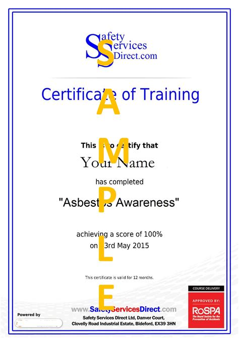 asbestos awareness certificate template course certificate template it meeting agenda