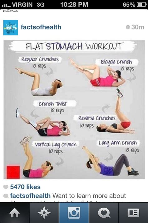 flat stomach workout start today and see your results in 2 weeks fit board
