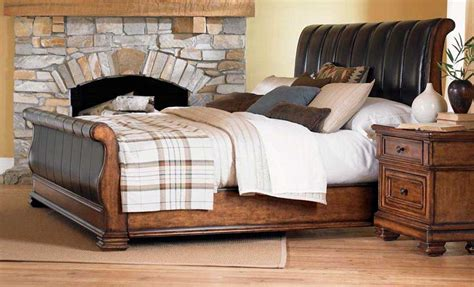 Leather Sleigh Bed Legacy Classic Larkspur Leather Sleigh Bed 931 Sl Bed Homelement