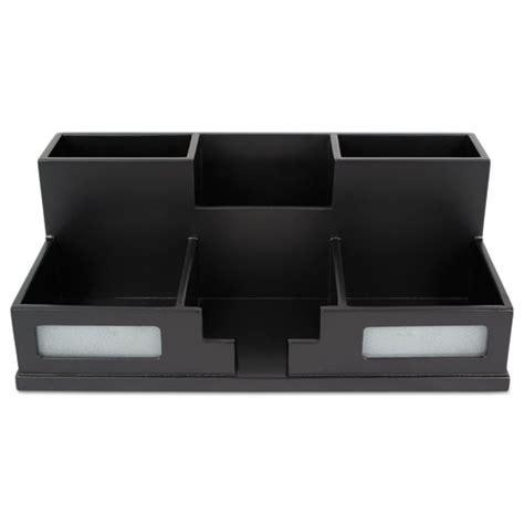 Black Wood Desk Organizer Victor 174 Midnight Black Desk Organizer With Smartphone Holder 10 1 2 X 5 1 2 X 4 Wood Vct95255