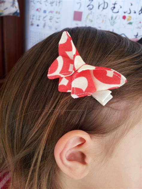 origami butterfly hair clip quot lotus wall flower moon
