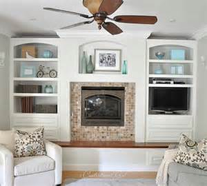 Bookshelves Next To Fireplace by I Painted My Built Ins Centsational
