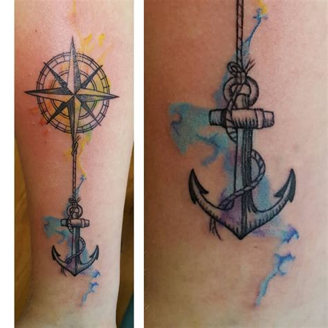 compass and anchor tattoo compass and anchor but without the watercolour effects