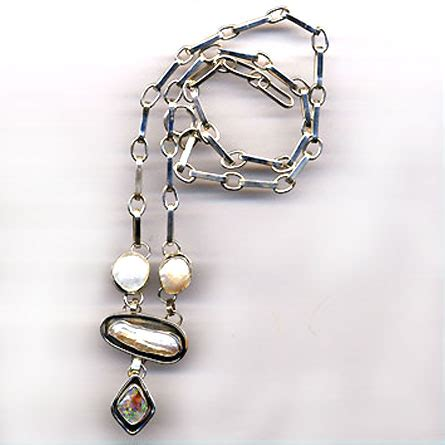 Handcrafted Jewellery Melbourne - silver pearl necklace 187 handcrafted jewellery melbourne