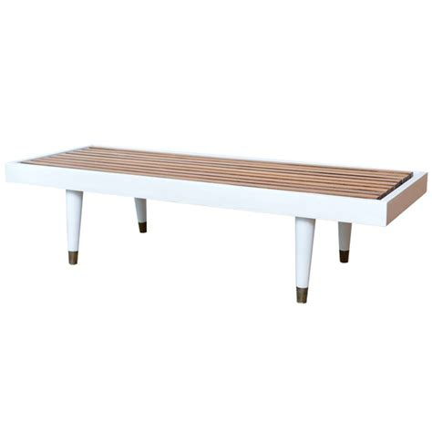 Coffee Table Mid Century Mid Century Modern Slat Coffee Table