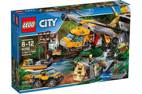 lego city jungle boat lego city jungle air drop helicopter 60162 offizielle