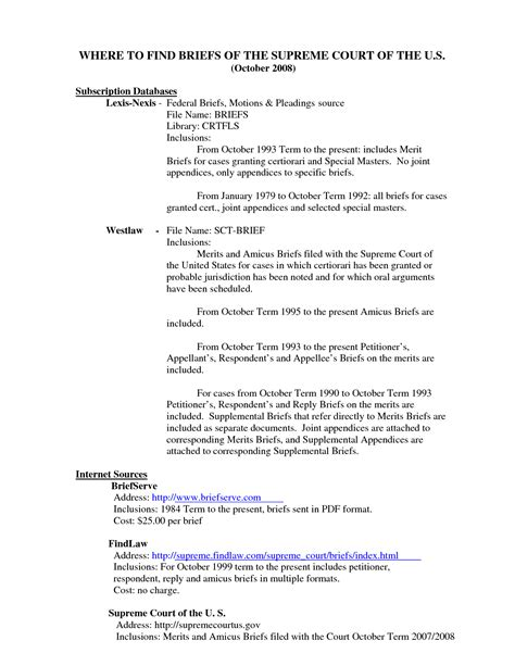 Appellate Brief Briefformat court briefformat 28 images trial brief format exle