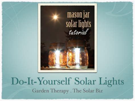 do it yourself solar lights diy solar lights