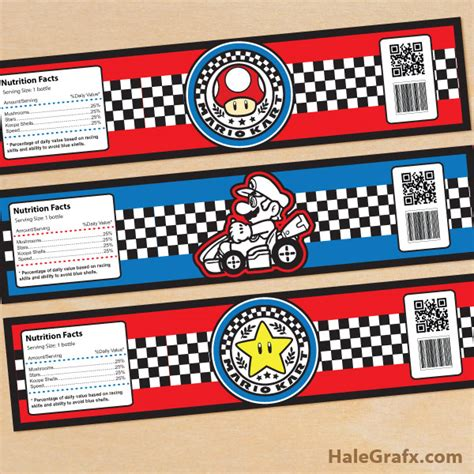 printable nes labels click here to download free printable mario kart water