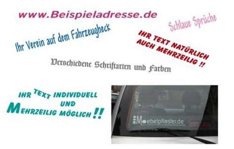 Autoaufkleber Mit Eigenem Text autoaufkleber ihr eigener text