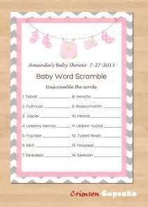 printable baby shower word scramble custom