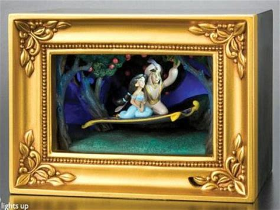 magic carpet ride aladdin & jasmine gallery of light box