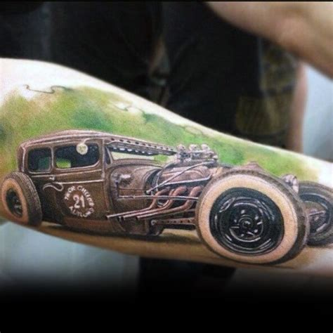 70 rod tattoo designs for men automobile aficionado