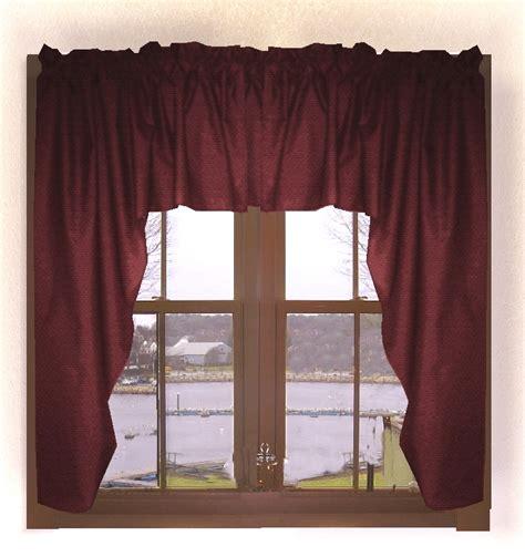 burgundy wine curtains solid burgundy wine swag window valance