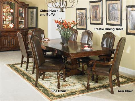 Trestle Dining Room Table Sets Hacienda Trestle Dining Room Table Set