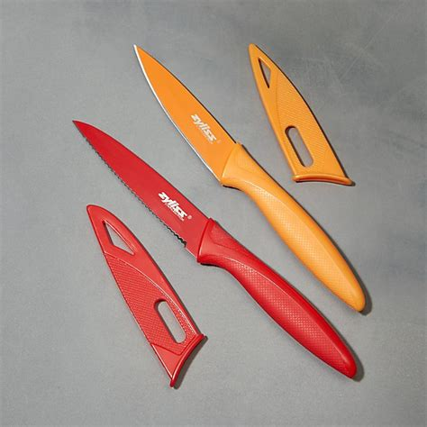 zyliss paring knives crate and barrel