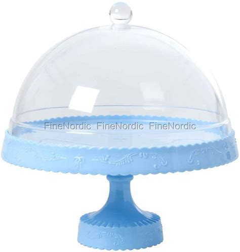 etagere rice rice cake stand with dome soft blue
