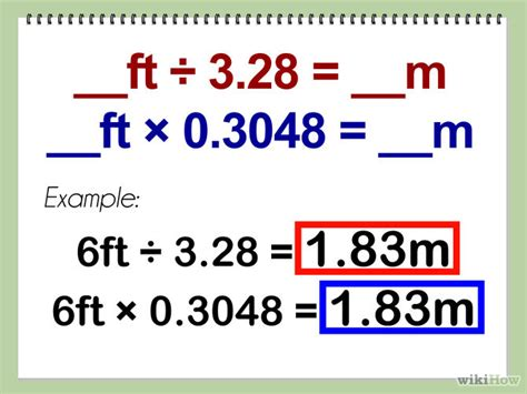 2 meter feet how to convert feet to meters with unit converter wikihow