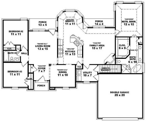 3 story duplex floor plans single story 3 br 2 bath duplex floor plans dream home pinterest house plans kitchen nook