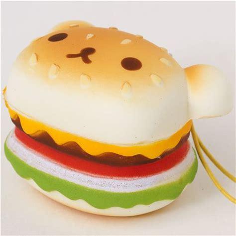 rilakkuma hamburger squishy cellphone charm food squishies squishies shop modes4u