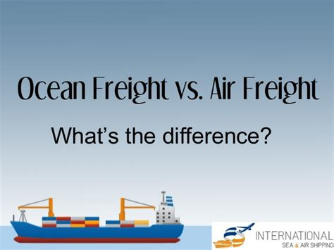 freight vs air freight what s the difference