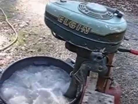 old elgin boat motor 1954 elgin by west bend 2 hp aircooled 1 cylinder outboard