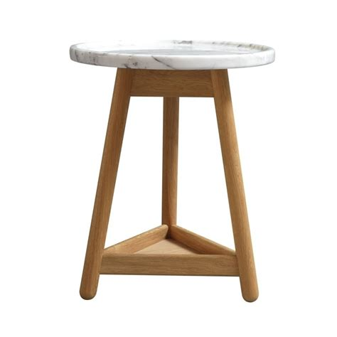 white top side table carve side table oak base white top by bethan gray
