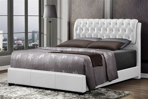tufted bed viola button tufted leather bed