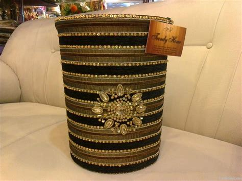 Handmade Work At Home - buy dustbin handmade embroidered sequence beaded