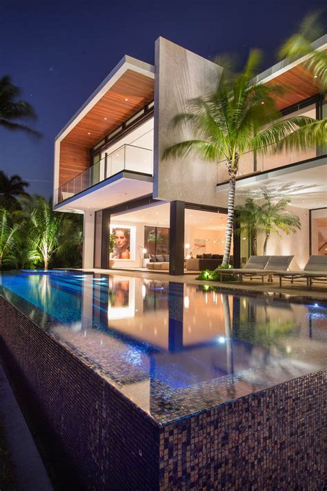 modern waterfront home arrives  miami