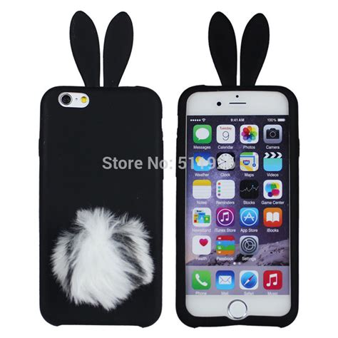 new lovely colorful rabbit with ear tpu for