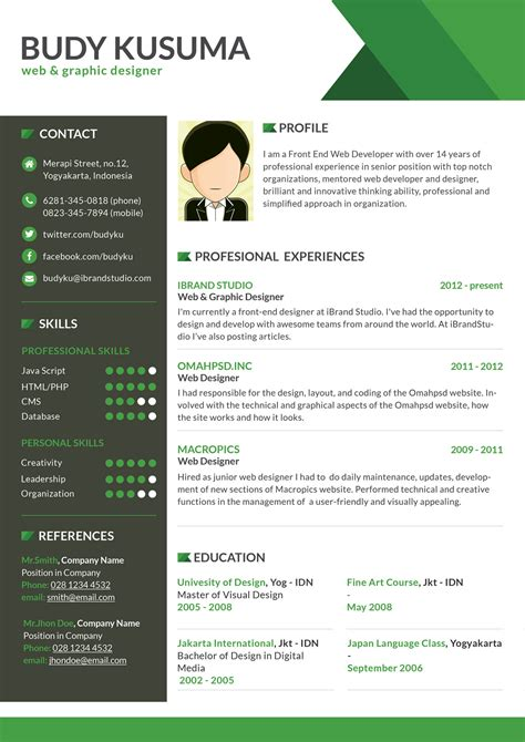 design resume template free 40 resume template designs freecreatives