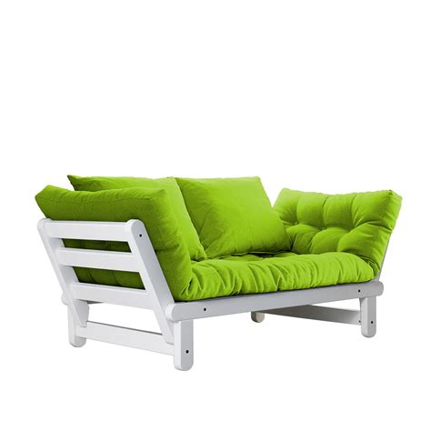 futon white beat white frame natural cushion fresh futon