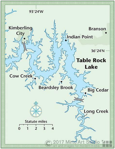 table rock lake map table rock lake map gallery diagram writing sle ideas