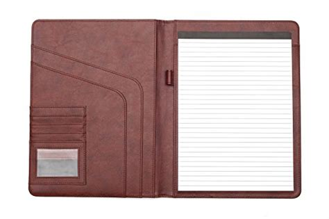 professional business padfolio portfolio organizer resume folder synthetic