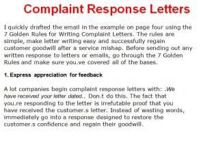 complaint letter template october 2012