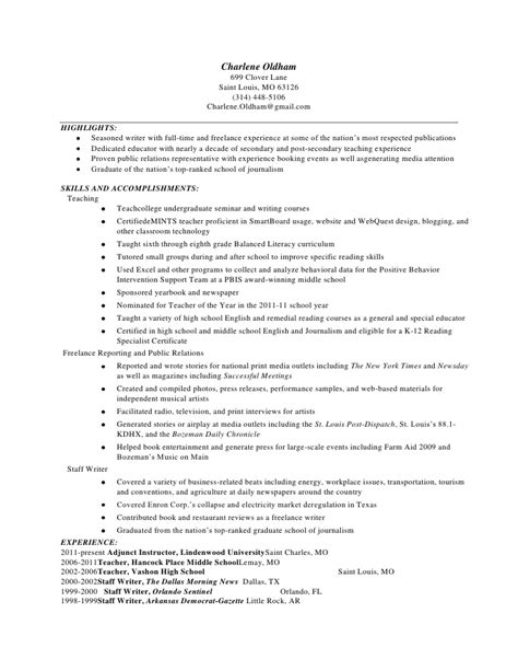 Sle Resume For In Usa Teach For America Sle Resume 28 Images 6 Resume Format For Fresher Musicre Sumed Resume