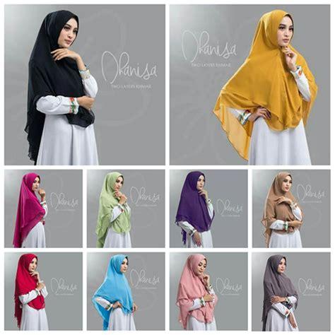 jilbab khimar dhanisa 2 layer ceruti jilbab cantik