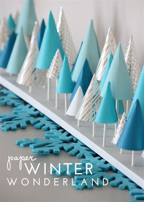 Diy Winter by Paper Winter Decor Mantels Winter And Holidays