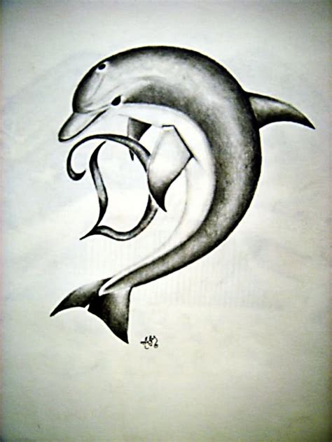 the letter d tattoo designs dolphin images designs