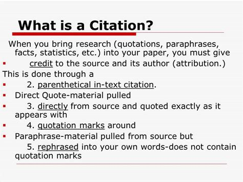 giving credit in a research paper learning to the research paper ppt